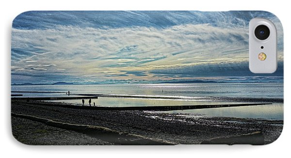 Crescent Beach At Dusk IPhone Case by Lawrence Christopher