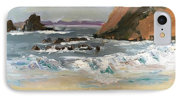 IPhone Case featuring the painting Crescent Beach At Laguna  by MaryAnne Ardito