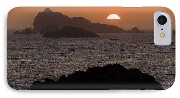 Crescent City Sunset From Battery Point Lighthouse IPhone Case