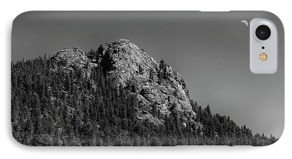 IPhone Case featuring the photograph Crescent Moon And Buffalo Rock by James BO Insogna