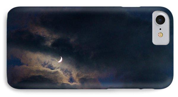 Crescent Moon In Hocking Hilla IPhone Case by Haren Images- Kriss Haren