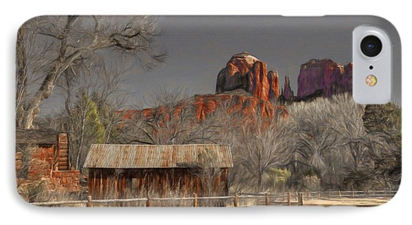 Crescent Moon Ranch IPhone Case by Donna Kennedy