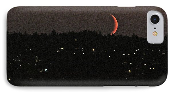 IPhone Case featuring the photograph Crescent Moonset by Sean Griffin