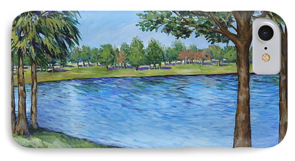 Crest Lake Park IPhone Case by Penny Birch-Williams