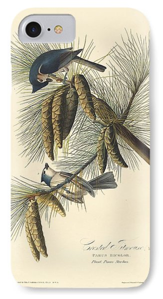 Titmouse iPhone 7 Case - Crested Titmouse by Dreyer Wildlife Print Collections