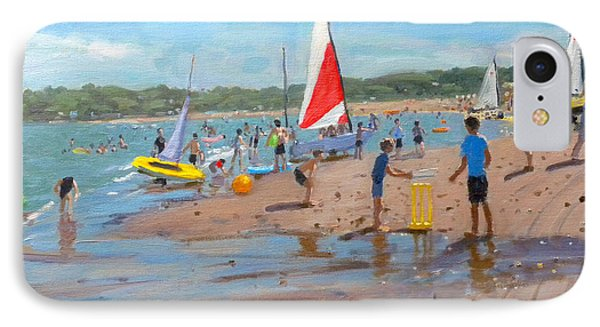 Cricket iPhone 7 Case - Cricket And Red And White Sail by Andrew Macara