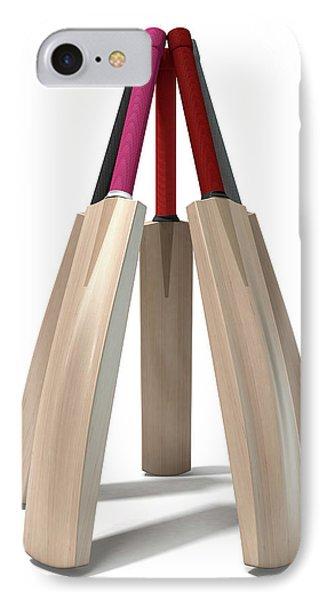 Cricket Bat Circle IPhone Case by Allan Swart