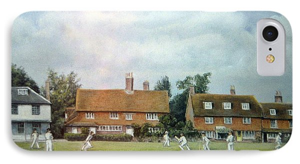 IPhone Case featuring the painting Cricket On The Green by Rosemary Colyer