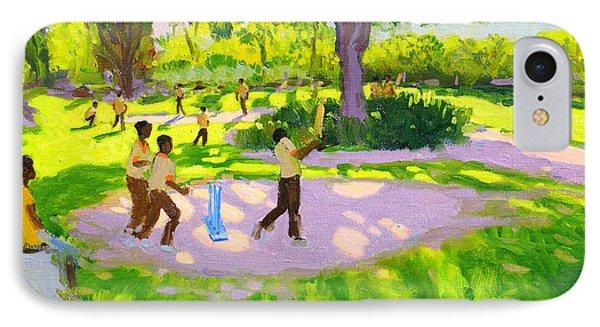 Cricket iPhone 7 Case - Cricket Practice by Andrew Macara