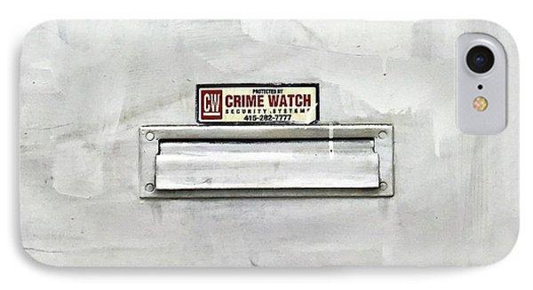 Crime Watch Mailslot IPhone Case