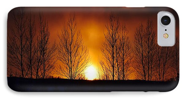 Crisp Sunset IPhone Case by Dacia Doroff