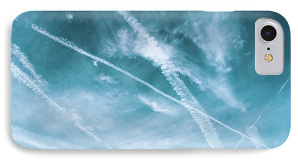 IPhone Case featuring the photograph Criss-cross Sky by Colleen Kammerer