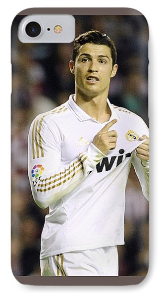 Cristiano Ronaldo 4 IPhone Case by Rafa Rivas