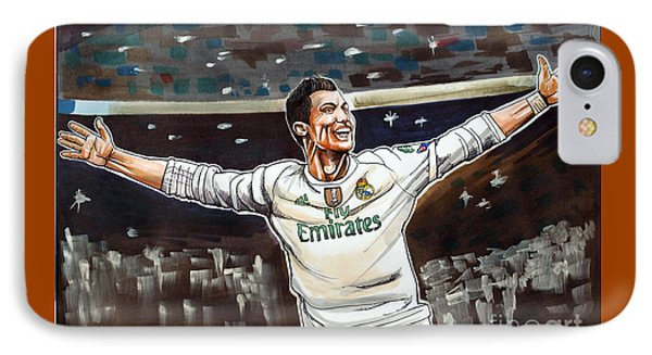 Cristiano Ronaldo Of Real Madrid IPhone 7 Case by Dave Olsen