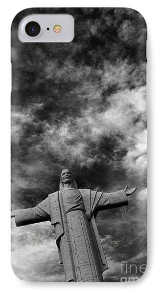 Cristo De La Concordia Cochabamba IPhone Case by James Brunker