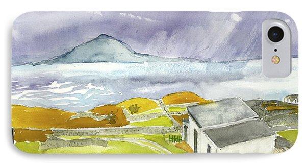 Croagh Patrick And Purple Sky IPhone Case