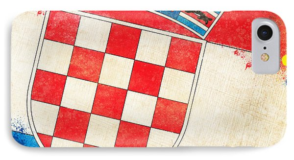 Croatia Flag Phone Case by Setsiri Silapasuwanchai