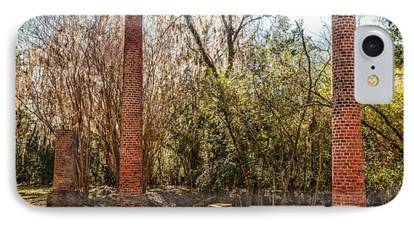 Crocheron Columns Phone Case by Phillip Burrow