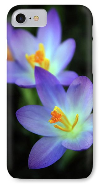 IPhone 7 Case featuring the photograph Crocus In Bloom by Jessica Jenney