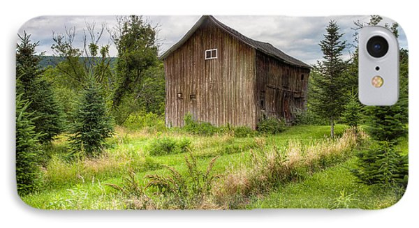 IPhone Case featuring the photograph Crooked Old Barn On South 21 - Finger Lakes New York State by Gary Heller