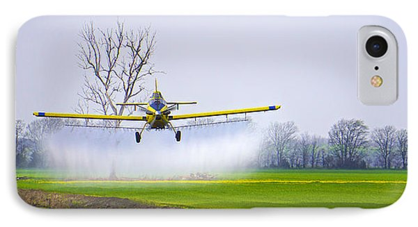 Precision Flying - Crop Dusting 1 Of 2 IPhone Case by Charlie Brock