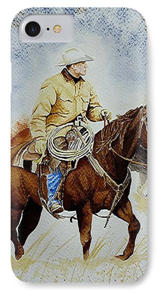Cropped Ranch Rider IPhone Case by Jimmy Smith