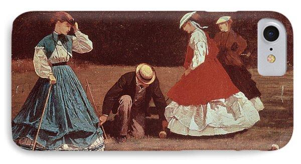 Croquet Scene Phone Case by Winslow Homer