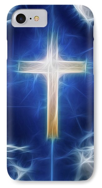 Cross Abstract IPhone Case by Bruce Rolff