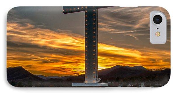 Cross At Lake Junaluska IPhone Case