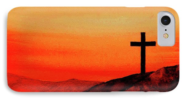 Cross At Sunset Phone Case by Michael Vigliotti