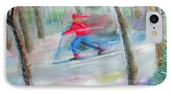 Cross Country Ski IPhone Case by Robert P Hedden