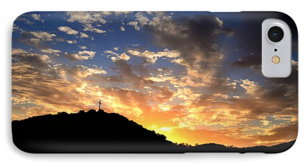 Cross On A Hill IPhone Case by Sharon Soberon