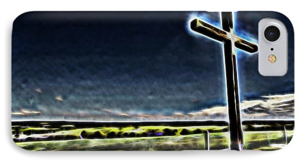 IPhone Case featuring the photograph Cross On The Hill by Douglas Barnard