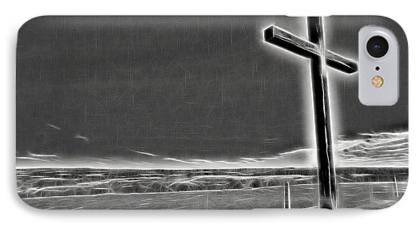 IPhone Case featuring the photograph Cross On The Hill V2 by Douglas Barnard