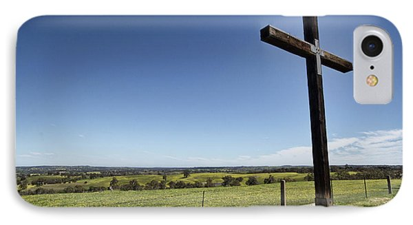 IPhone Case featuring the photograph Cross On The Hill V3 by Douglas Barnard