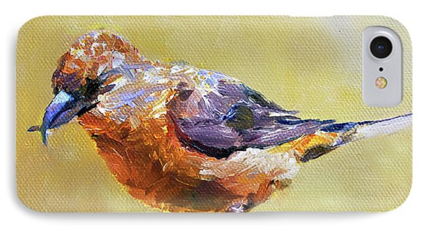 Crossbill IPhone Case by Jan Hardenburger