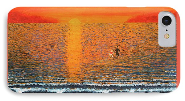 IPhone Case featuring the painting Crossing Over by Thomas Blood