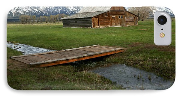 Crossing The Creek Along Mormon Row IPhone Case by Adam Jewell