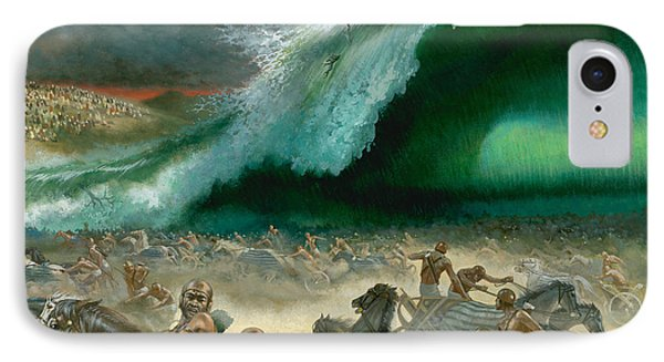 Crossing The Red Sea IPhone Case by Anonymous