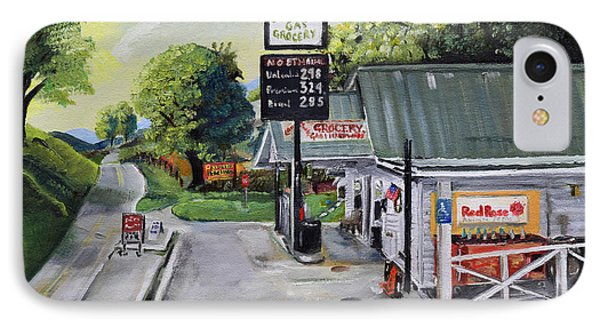IPhone Case featuring the painting Crossroads Grocery - Elijay, Ga - Old Gas And Grocery Store by Jan Dappen