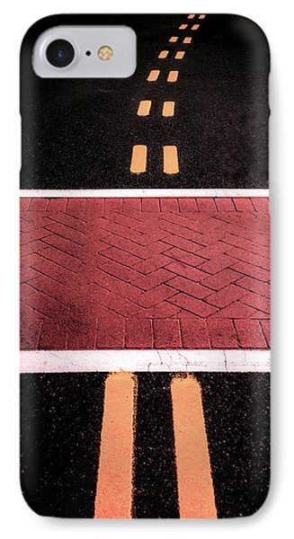Crosswalk Conversion Of Traffic Lines IPhone Case