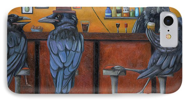 Crow Bar IPhone Case by Leah Saulnier The Painting Maniac