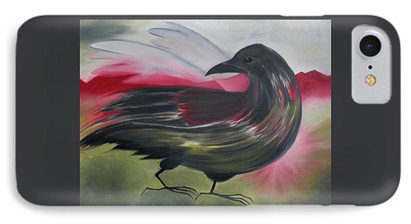 Crow Phone Case by Karen MacKenzie