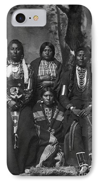 Crow Native Americans, 1883 IPhone Case