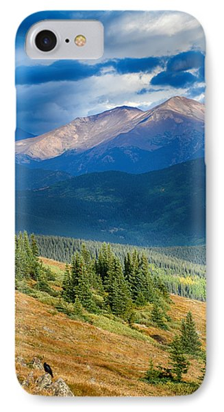 Crow On A Mountainside IPhone Case by Angelina Vick