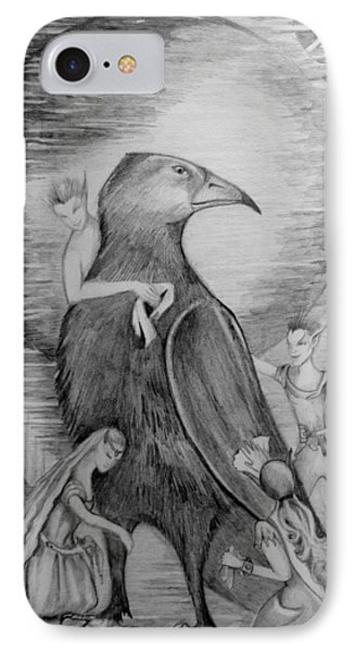 Crow IPhone Case by Rachel Henderson