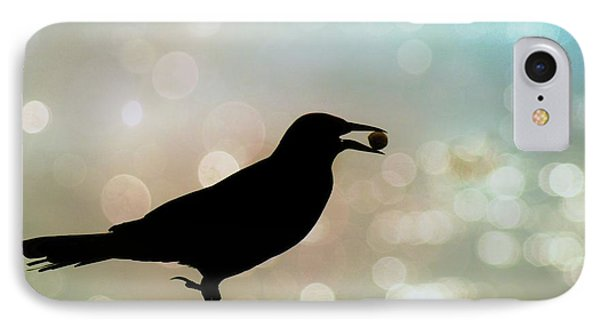 IPhone Case featuring the photograph Crow With Pistachio by Benanne Stiens
