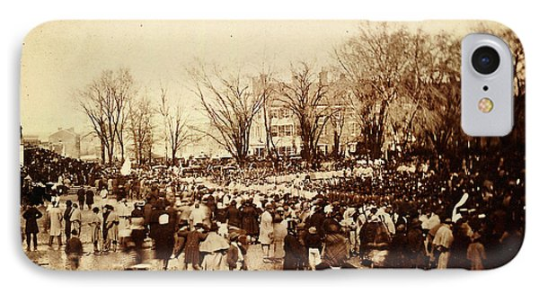Crowd At Lincoln's Second Inauguration IPhone Case by Celestial Images