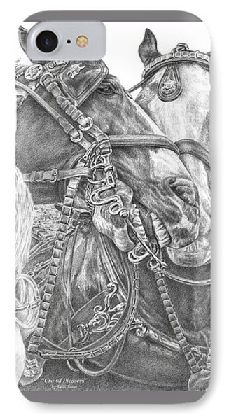 Crowd Pleasers - Clydesdale Draft Horse Art Print IPhone Case by Kelli Swan