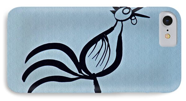 Crowing Rooster IPhone Case by Sarah Loft